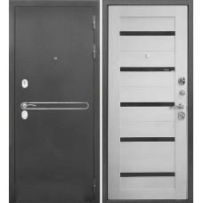 Металлическая входная дверь Тайгер Рио антик серебро / эшвайт